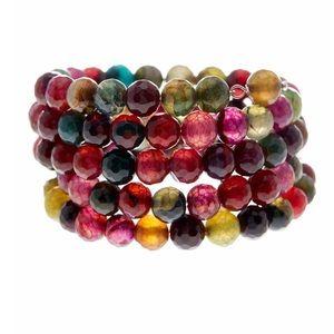 Jewelry - Agate coil wrap bracelet NWT